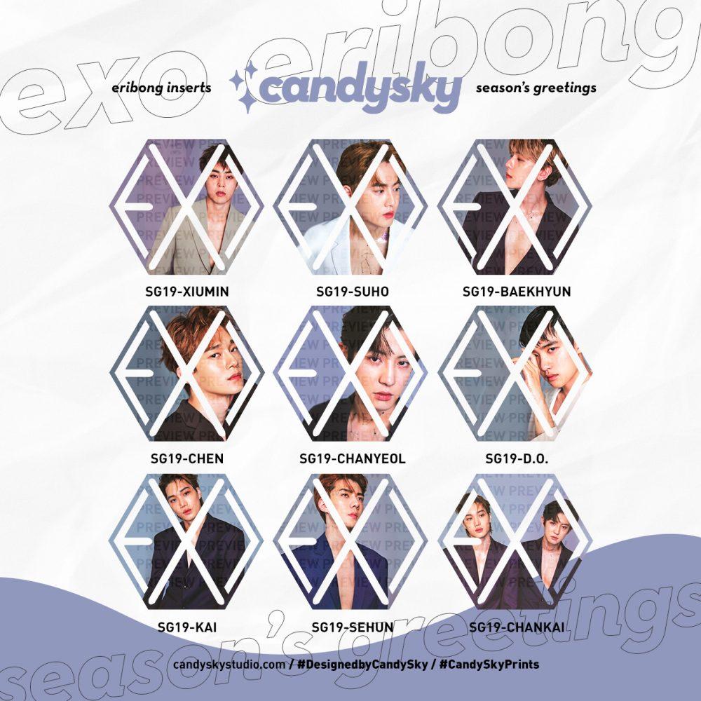 EXO Eribong Inserts: Seasons Greetings 2019 Collection
