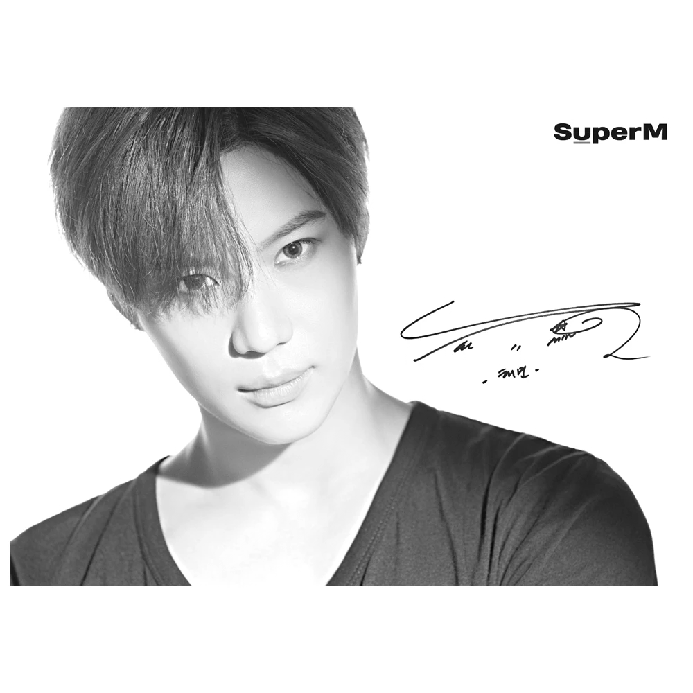 Super M 2019 Limited Edition Hand Signed Poster TAEMIN