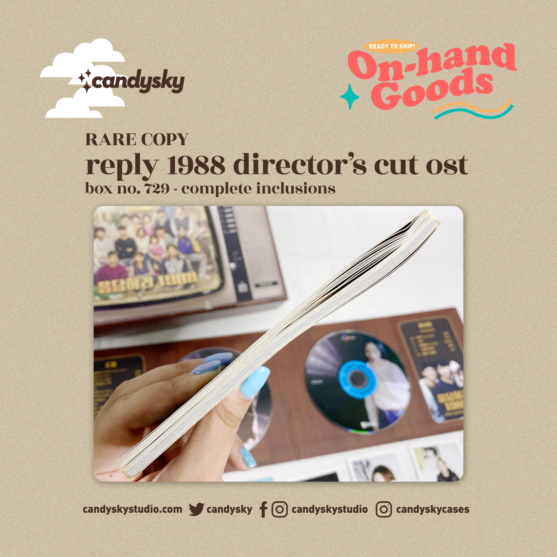 Reply 1988 Director's Cut OST