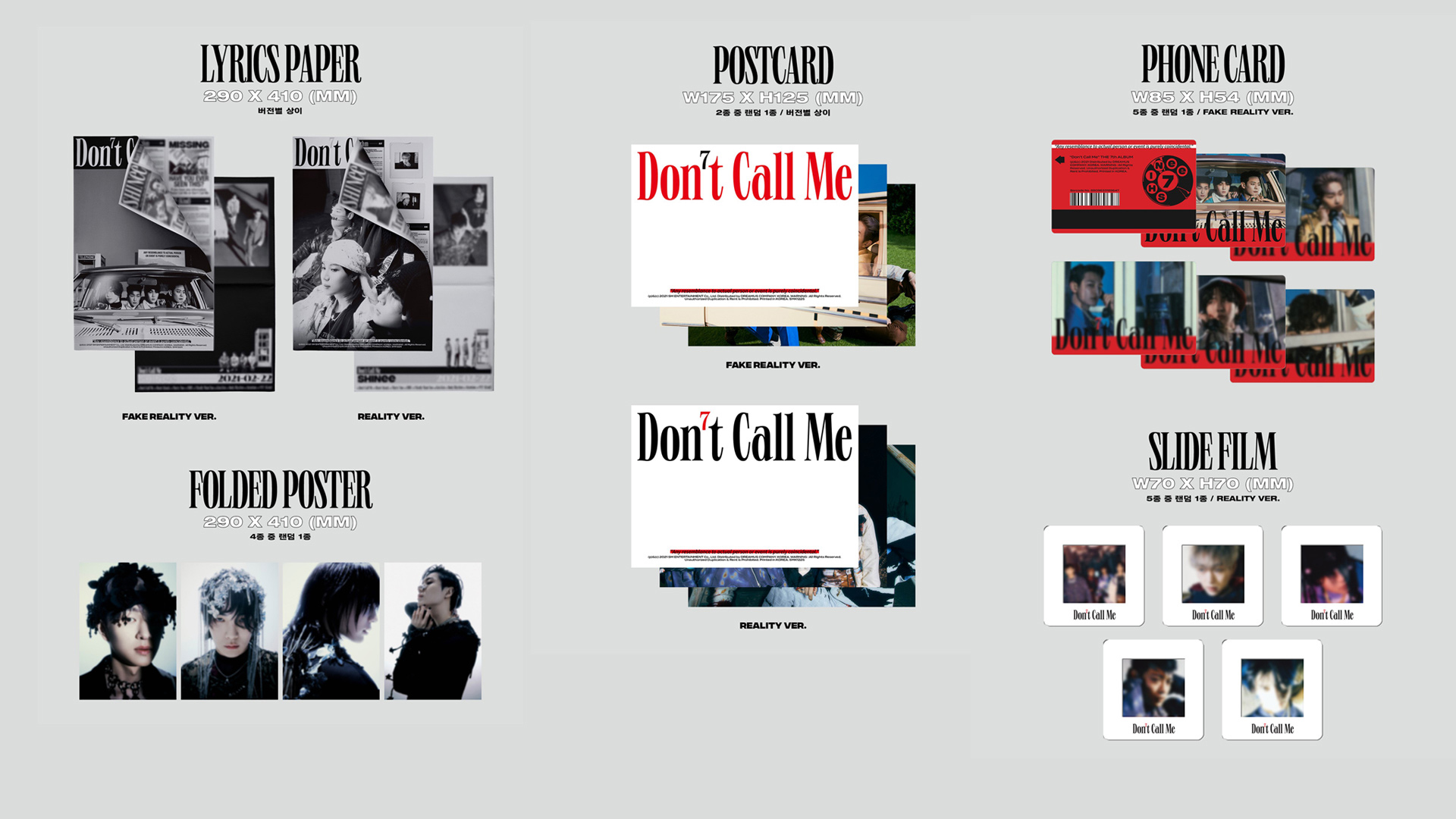 "SHINee 7th Album ""Don't Call Me"" Photobook Ver. – Details #3"